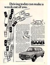 1971 SAAB 99  ~  NICE ORIGINAL PRINT AD