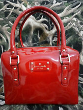 Kate Spade RED  Damien Patent Bag (Like New Condition)