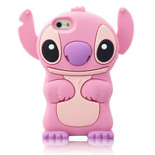 For IPhone  5C 3D Lilo Stitch Soft Silicone Character Case Cover - Pk