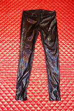 LIP SERVICE DARK MATTER BLACK PVC PANTS M 38-374 NWOT