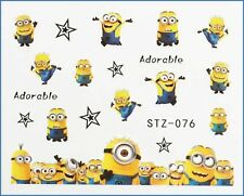 Planche de stickers ongles Nail Art water decal minions minion mignons STZ076