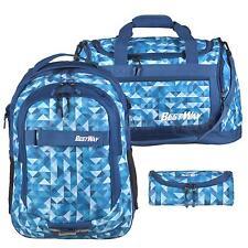 Schulrucksack 3er Set +Schlamper+Sporttasche Bestway Rucksack Schule blau