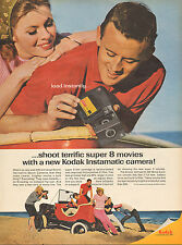 1960 Vintage AD KODAK super 8mm Instamatic Movie Cameras Dune Buggy 100216