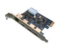 Carte contrôleur PCIE - 3 ports USB3 + 1 port GIGABIT ETHERNET - VIA / ASIX