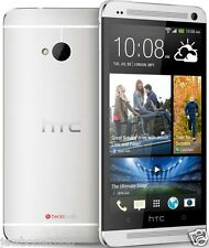 HTC M7 TMOBILE ANDROID  LOCKED GSM SMARTPHONE  SILVER  GOOD CONDITION