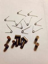 10 622-121 Motor Brushes & 10 2036-157 Springs for Lionel Steam Engines (5 Pair)