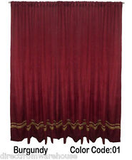 Saaria Velvet Panel With Gold Stripe Backdrop Room Photo Shoot Curtain 6'Wx10'H