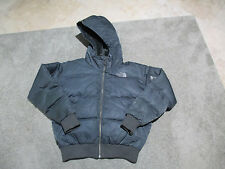 The North Face 550 Hooded Bubble Jacket Womens Extra Small XS Black Puffer Coat