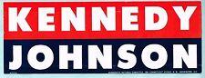 1960 JOHN F. KENNEDY Window Sticker