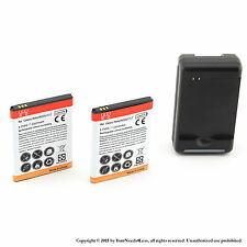 2 x 2600mah Battery for Samsung Galaxy Note SGH-i717 i9220 N7000 T879 Charger