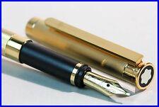 MONTBLANC Füller GOLD NOBLESSE, F - weiche & feine 750er 18K Gold Feder