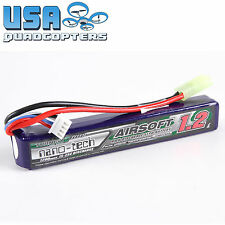 Turnigy Nano Tech 1200mah 3s 11.1v 15c 25c LiPo Airsoft Battery Pack Mini Molex