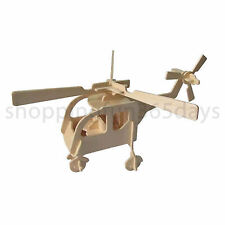 Top Best Selling Super 3D Wooden Helicopter Puzzle Construction Puzzle for Kids