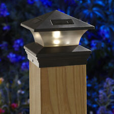 Moonrays Woods SIX PACK OF 6x6 SOLAR POST CAPS LIGHTS BLACK 91268 fence and deck