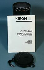 Kiron 35-135 mm f3.5/4.5 macro focusing zoom lens.  Fits Canon 35mm cameras.