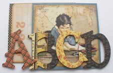 """Graphic 45 - BACK TO SCHOOL - A Place in Time - Alphabet Chipboard Letters 1.5"""""""