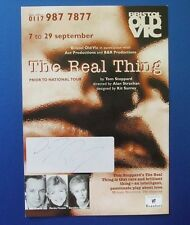 THEATRE FLYER THE REAL THING SIGNED BY NEIL PEARSON