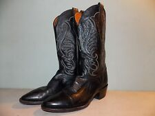 1980's USA Made Black Leather Western Style Boots Men's Size 9 1/2 D used-Great