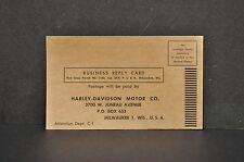 Vintage Harley Davidson Enthusiast Magazine 1951 Subscription Card Ephemera