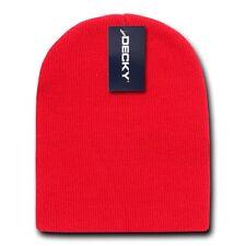 Red Beanie Hat Cap Skull Ski Snowboard Winter Warm Knit Hats Cuffless Beanies