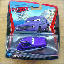 Disney PIXAR Cars 2 DON CRUMLIN Gremlin Purple LEMON diecast #31 GREEN EYES Grem