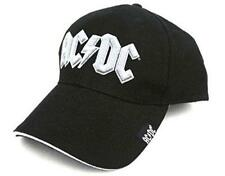 OFFICIAL LICENSED - AC/DC - LOGO WHITE BLACK BASEBALL CAP ANGUS