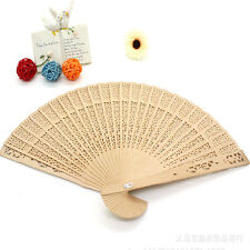 Saling Wooden Folding Hollow Carved Hand Fan Flower Wedding Bridal Party Gift