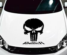 PUNISHER SKULL & WORDS VINYL DECAL HOOD SIDE FOR CAR TRUCK