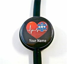 ID STETHOSCOPE NAME TAG EMT STAR IF LIFE HEARTBEAT, EMS,PARAMEDIC, MEDICAL,NURSE