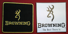 BROWNING FIREARMS 75mm EMBROIDERED PATCH + BROWNING STICKER SET