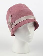 VTG 1920s THE COLLEGA HAT LAVENDER PURPLE STRAW CLOCHE FLAPPER HAT
