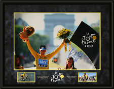 Bradley Wiggins Genuine Hand Signed Team Sky FRAMED 30X20 PHOTO TOUR DE FRANCE B