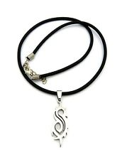 "New SLIPKNOT Stainless Steel Pendant &18"" Rubber Chain Hip Hop Necklace RC1463"