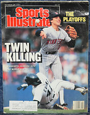 Magazine SPORTS ILLUSTRATED, Oct. 19 1987 Baseball Playoffs: TWINS Beat DETROIT