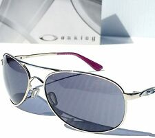 NEW* Oakley GIVEN Aviator SILVER w POLARIZED Lens Womens Sunglass 4068 4016 $180