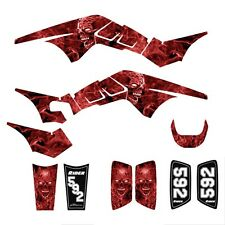 TRX250R Graphics TRX 250R 250 R racing deco sticker kit NO9500 Red Zombie Skull
