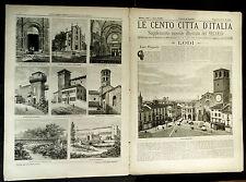 1896 = LE CENTO CITTA D'ITALIA = GALLARATE MI = LOMBARDIA ITALIA.ETNA.SONZOGNO
