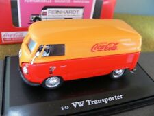 1/43 coca-cola 1962 VW t1 panel van rojo/amarillo 434481