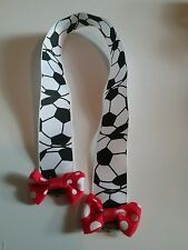 handmade bookmark 22mm football ribbon red bows birthday gift secret santa