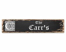 SP0854 The CARR Family name Sign Bar Store Shop Cafe Home Chic Decor Gift
