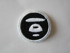 Bathing Ape Baby Milo Round Black & White Monkey Iron On Patch