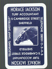 Playing Swap Cards 1 VINT HORACE  JACKSON TURF ACCOUNTANT  RACEHORSE W517 SUPER