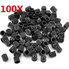 100PCS Plastic Black Color Car Wheel Tire Universal Valve Stem Caps Air Dust Cap