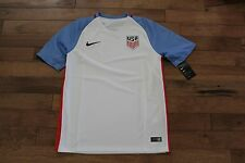 16 Nike 2016 USA World Cup Soccer Home Authentic Jersey 724643 100 Mens Size Med