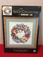 Dimensions Gold Collection Holiday Harmony Wreath Cross Stitch Kit Karen Avery