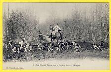 cpa FORÊT de DREUX (Eure et Loir) CHASSE à COURRE Meute de Chiens Cheval Hunting