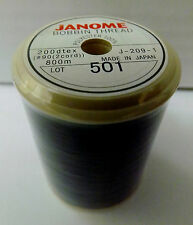 JANOME Sewing Machine EMBROIDERY BOBBIN THREAD - BLACK 800m (METRES)