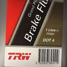 Trw Lucas liquide de frein DOT 4.0 safety 1000 ML 1 Litre Grand prix 600