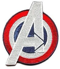 AVENGERS captain america a EMBROIDERED IRON-ON PATCH *FREE SHIP* marvel c pmvl51