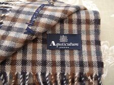 AQUASCUTUM Club Check Lambswool Scarf CHARCOAL - FREE P&P - SAME DAY DESPATCH